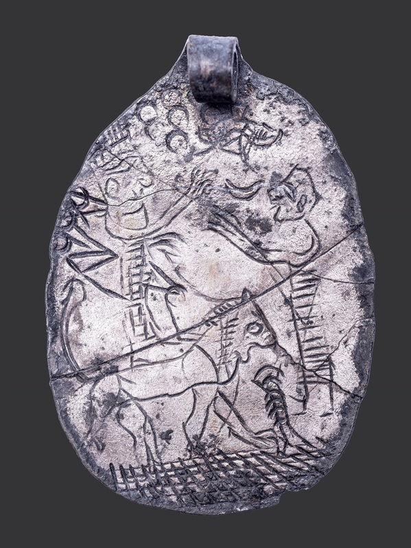 Silver Pendant from Ekron, depicting the Goddess Ishtar