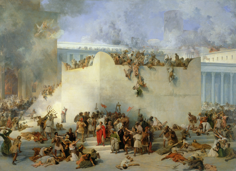 Francesco Hayez's 'Destruction of the Temple of Jerusalem'