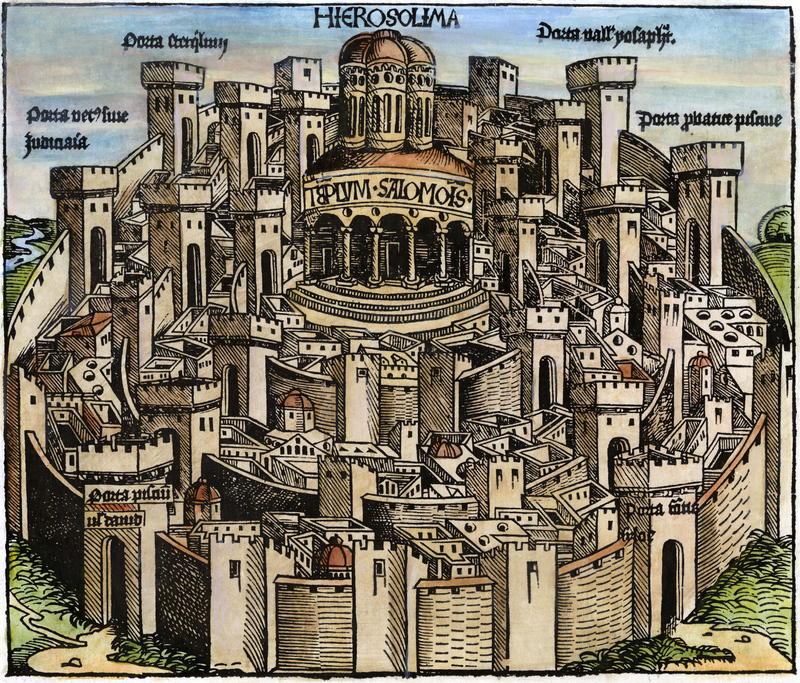 'Jerusalem, with the Temple of Solomon' from the Nuremberg Chronicle