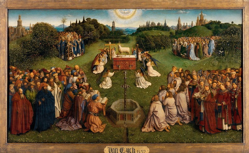 'The Adoration of the Mystic Lamb' from the Ghent Altarpiece