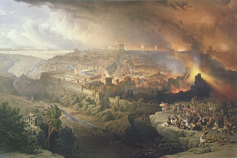 David Roberts' 'The Siege and Destruction of Jerusalem by the Romans Under the Command of Titus, A.D. 70'