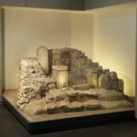 Reconstruction of the Holy of Holies from a sanctuary, Arad, 8th cent. BCE#1.tif