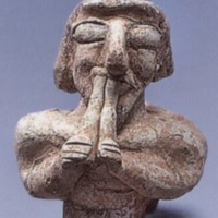 Figurine of a double flute player from Tel Malhata