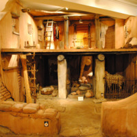 Reconstruction of a four-room house