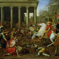 The Destruction of the Temples in Jerusalem by Titus Poussin.jpg