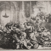 Rembrandt's 'Christ Driving the Money Changers from the Temple'