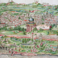 Map of the City of Jerusalem, from 'Peregrinatio in Terram Sanctam' by Bernhard von Breydenbach (1440-97.jpg