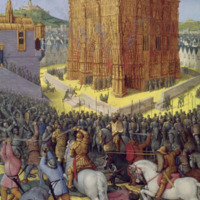 Jean Fouquet's 'The Siege of Jerusalem by Nebuchadnezzar' from Antiquites Judaiques