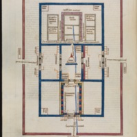 Nicholas of Lyra's 'Temple Diagram' from the Commentary on Ezekiel